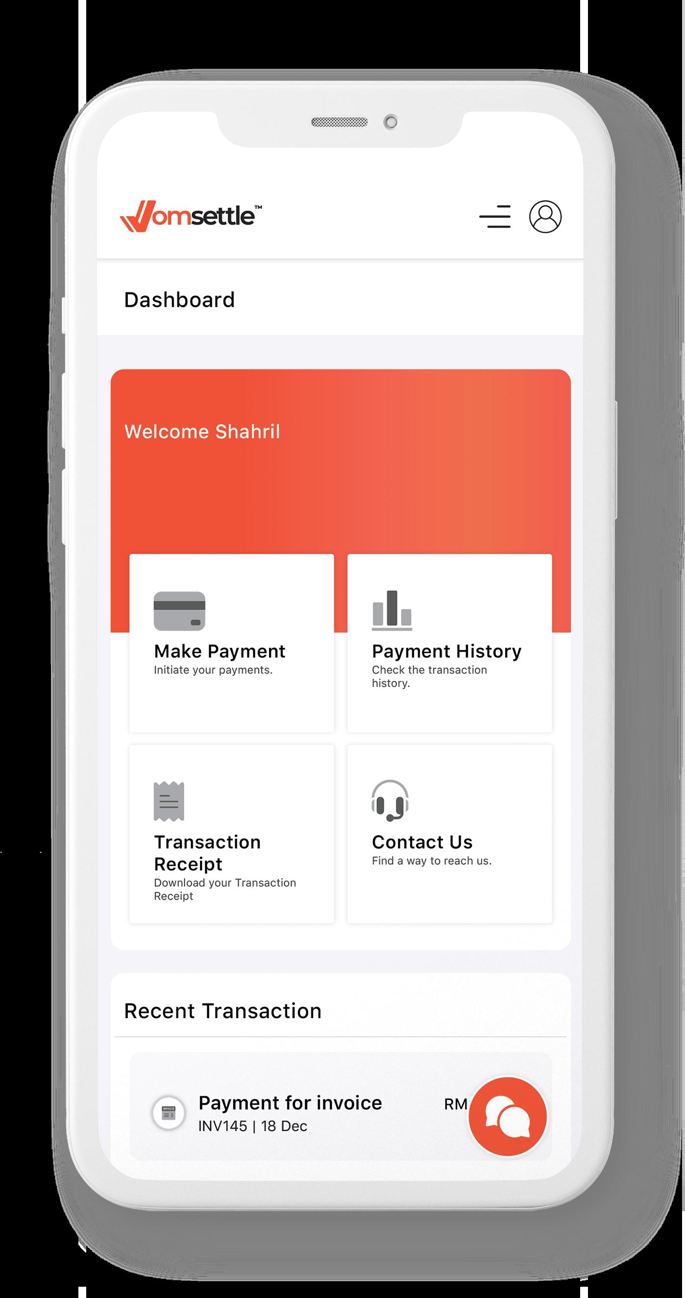 Mobile-Dashboard-Interface